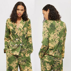 Top Shop Petite Tropical Print Pajama Jacket